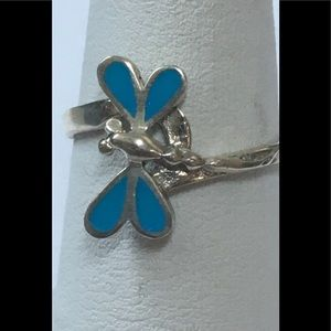 Sterling Silver &Turquoise Dragonfly Ring